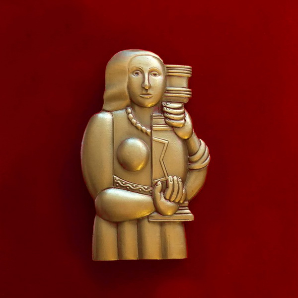 Женщина с вазойБрошь Винтаж  Коллекция Софии Загряжской