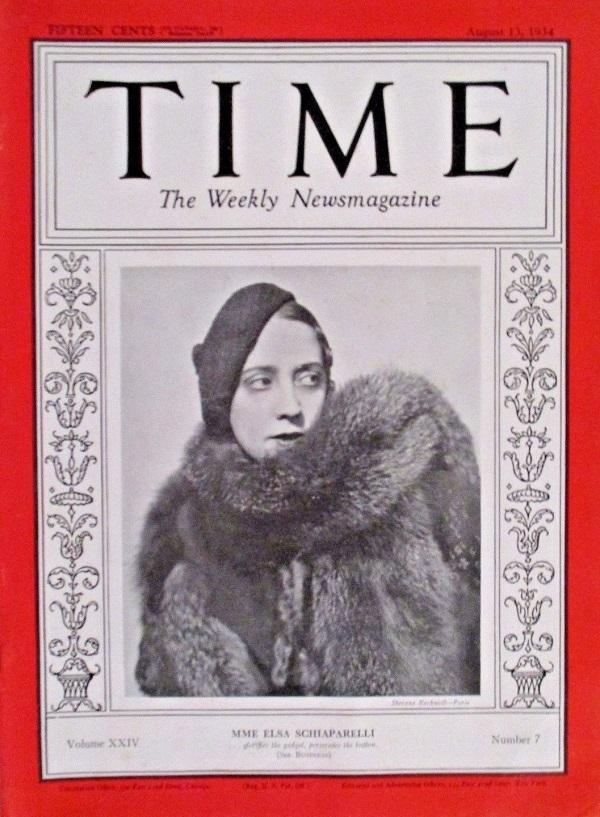 Фото Эльзы Скиапарелли лучшего дизайнера на обложке журнала TIME