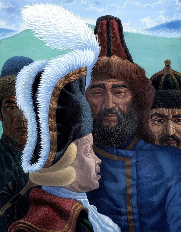 "Ансар Галин Иллюстрация к книге  ""Салават"" С. Злобина  ""Мобилизация""  Гуашь 1997 г."