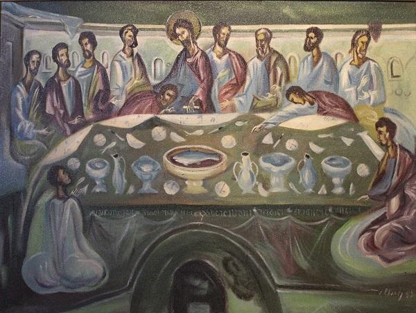 Анзор Чхаидзе  1992 г.  Тайная Вечеря холст, масло  80,5х60,5