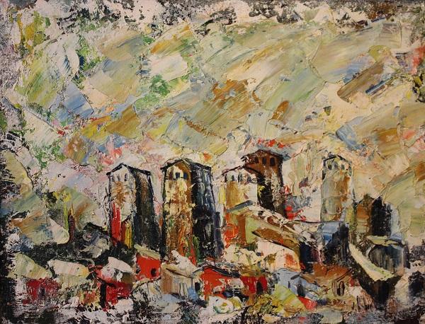 Анзор Чхаидзе   холст, масло  91-92 гг..  Пейзаж