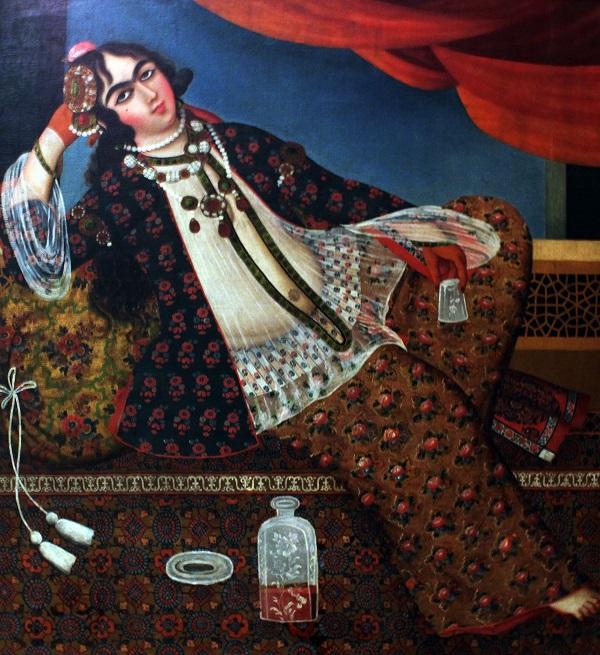 """Иран  Неизвестный художник  19 в. """" Женщина у окна"""""""