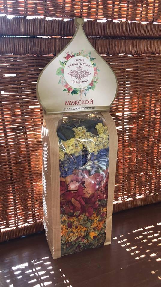 Чай от Монастырской Здравницы -- это не только вкусно и полезно, но еще и очень красиво! Такой пакет выглядит как букет цветов. Он и размером почти с букет! Его приятно рассматривать, заваривать и пить.