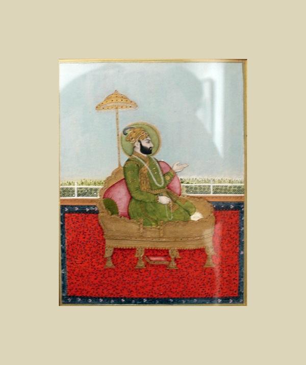 """""""Портрет знатного мужчины""""  Индия  18 в.  бумага, водяные краски, позолота Музей Востока, Москва"""