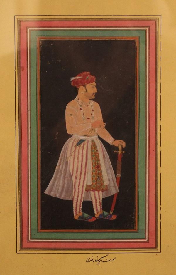 Портрет императора Джахангира  Индия  18-19 века бумага, водяные краски, позолота  Музей Востока, Москва