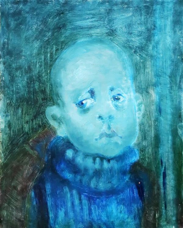 Ося Кудрявых портрет мальчика. Творческая Мастерская Рябичевых