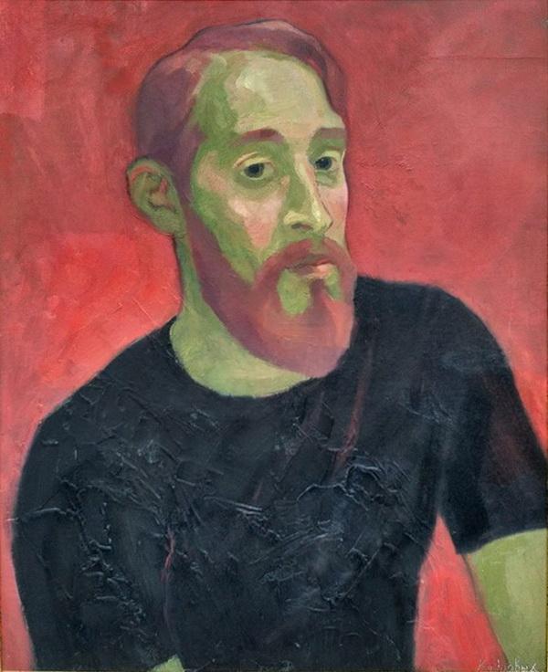 Ося Кудрявых портрет молодого человека. Творческая Мастерская Рябичевых.