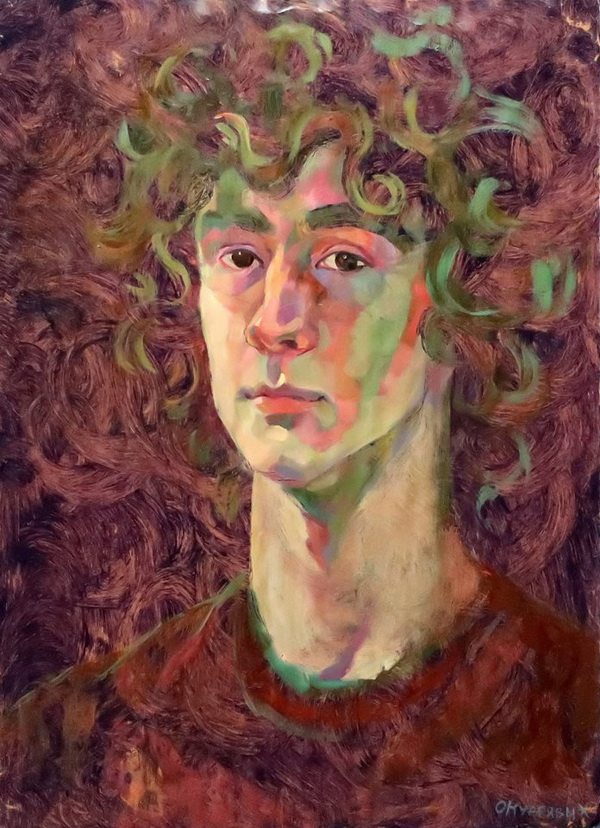Ося Кудрявых портрет.. Творческая Мастерская Рябичевых