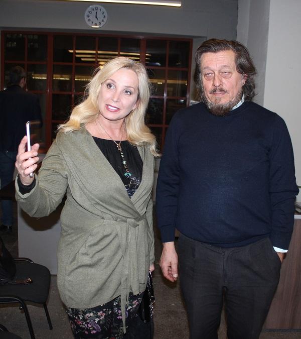 Участник мероприятия  художник Лариса Белима и Валентино Монтанари