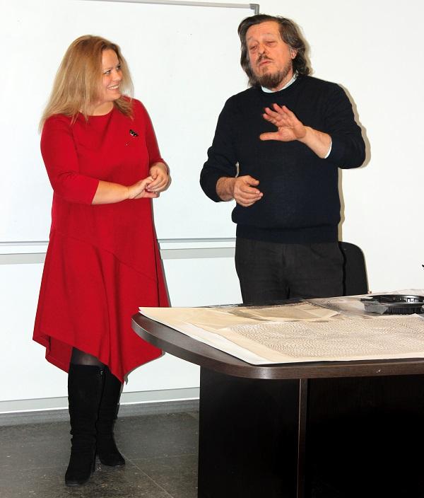 Elisaveta Linnaynmaa  Valentino Montanari в Москве рассказывают об искусстве мозаики и Международной Школе Искусств Мозаики и Фрески в Равенне