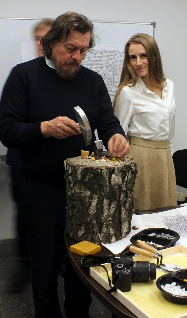 Черная речка мозаика маэстро Валентино и Александра Арт-Релиз.РФ