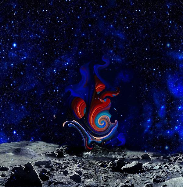"""Композиция Александры Загряжской на Луне Проект """"Первая Выставка на Луне, 2019"""""""