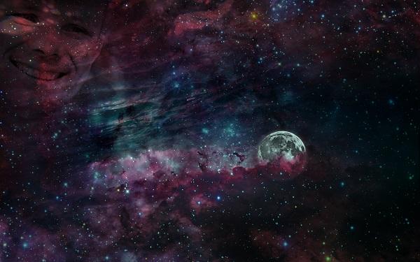 """Композиция Аллы Булгаковой на Луне Проект """"Первая Выставка на Луне, 2019"""""""