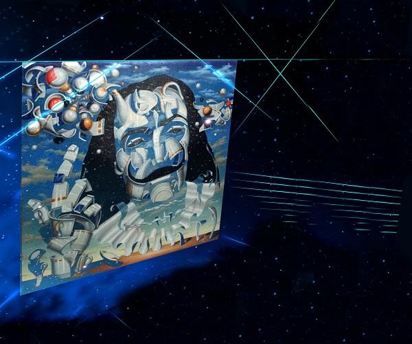 """Композиция Евгения Матько на Луне Проект """"Первая Выставка на Луне, 2019"""""""