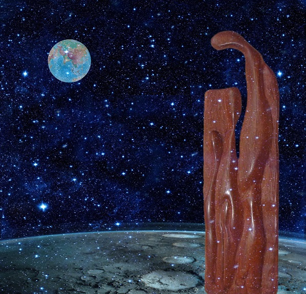 """Композиция Йослена Арриохаса Орсини на Луне Проект """"Первая Выставка на Луне, 2019"""""""