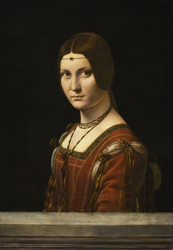 «Прекрасная Фероньера» (Париж, Лувр, ок. 1490)   Фото: © RMN-Grand Palais (musée du Louvre) / Michel Urtado