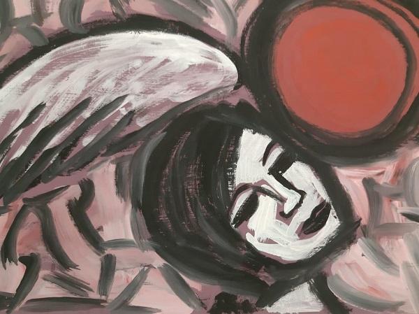"""Художник  Николай Костромитин иллюстрации  к произведению  Рюноскэ Акутагавы """"Жизнь идиота"""" выставка  в Галерее Светланы Сажиной"""