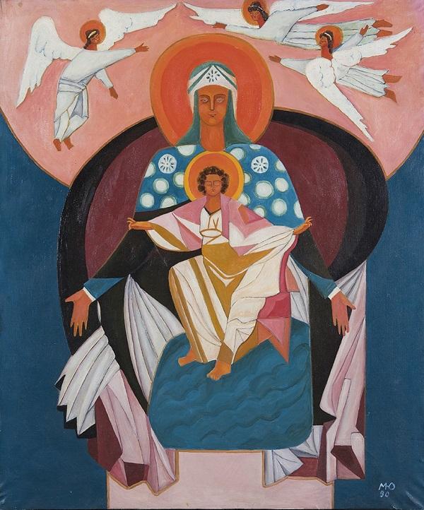 Библейская тема в творчерчестве Маргариты Юрковой Дева Мария с младенцем  Арт-Релиз.РФ