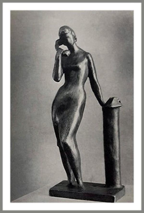 """Олег Комов """"Телефон"""" бронза 1958 г."""