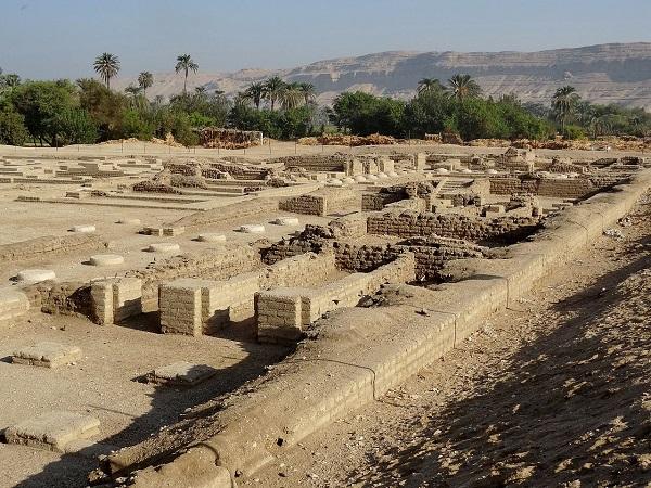 Амарна  руины Северного дворца древнего города  Ахетатон