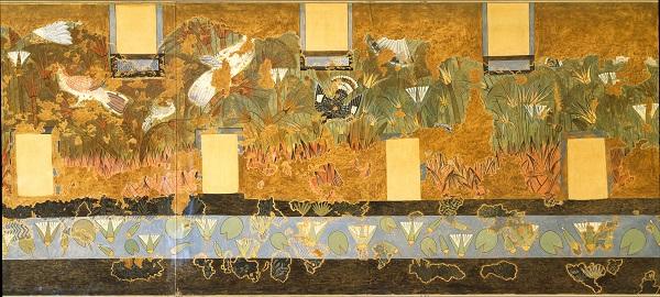 Роспись стен  из Зеленой комнаты  Северного дворца Амарны (Ахетатона)