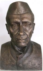 Джавахарлал Неру Первый премьер-министр Индии скульптурный портрет  Александра Рябичева лауреата премии имени Дж.Неру бронза