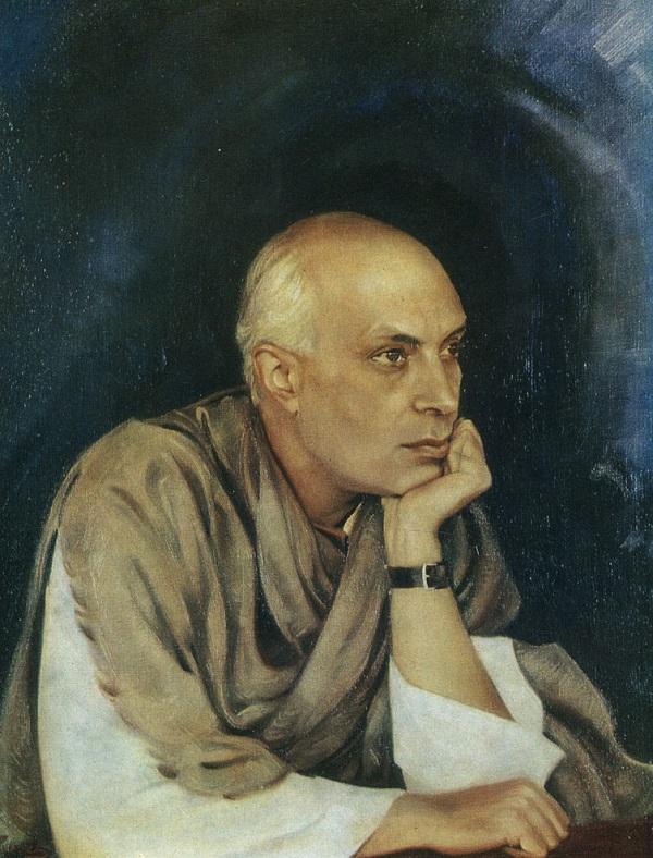 Джавахарлал Неру Портрет работы Святослава Рериха  1942 г.   Музей имени Н. К. Рериха (Москва)
