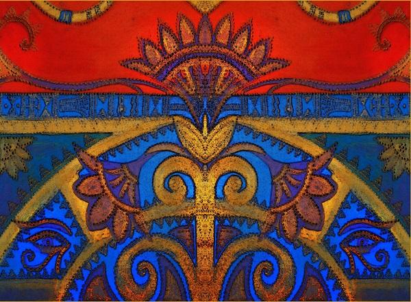 Александра Загряжская  Орнамент в египетском стиле