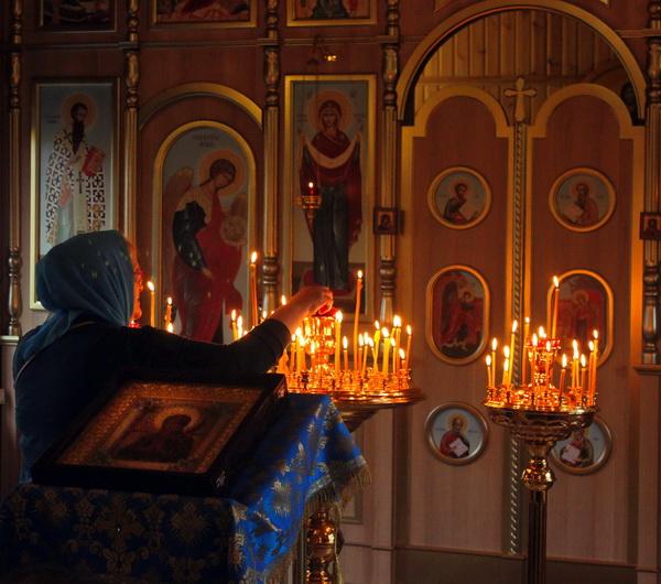 Мироточивый образ Пресвятой Богородицы  в Храме в честь Иконы Божией Матери  Умягчение злых сердец  в Коньково Москва, 10 октября  2019 г.