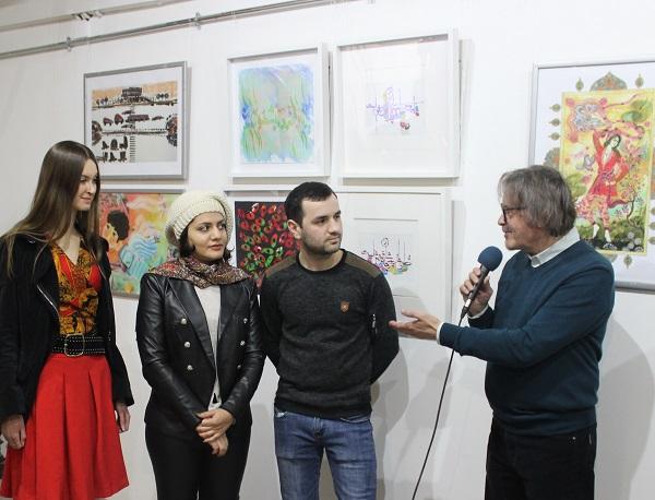Александр Белугин на открытии выставки