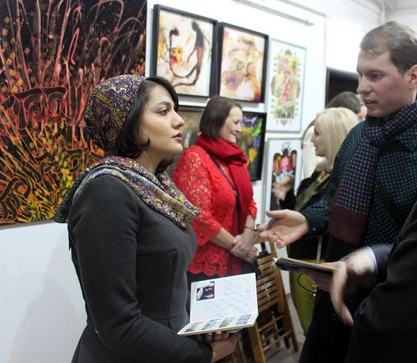 Художник  Махназ Жабри  в Москве Выставка в Творческой Мастерской Рябичевых