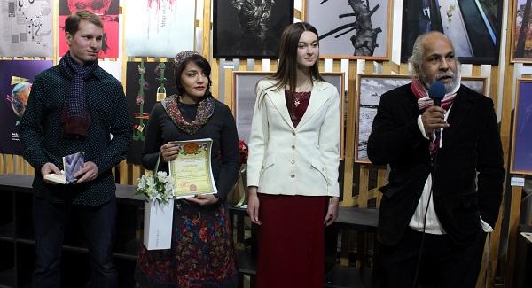 На открытии выставки художник Омар Годинес (Куба, Россия)