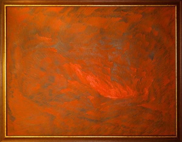 "Сергей Бордачев ""Вспышка"" холст, масло  2010 г.  155х115 см"