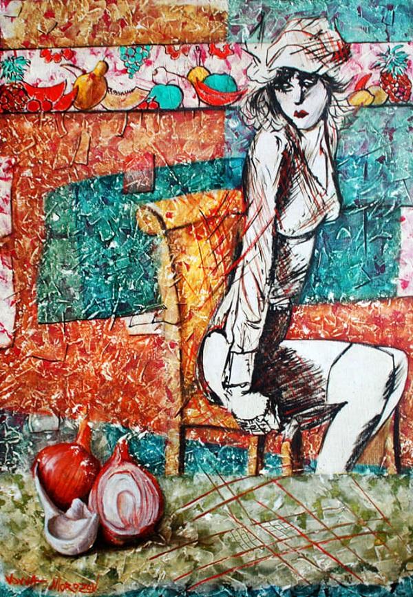 Художник  Вовва Морозов выставка в Библиотеке №209  имени А.Н. Толстого  до 15 марта 2020 года