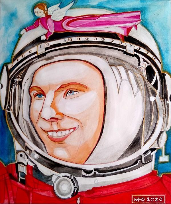 Маргарита Юркова Гагарин центральная часть триптиха Арт-Релиз.РФ