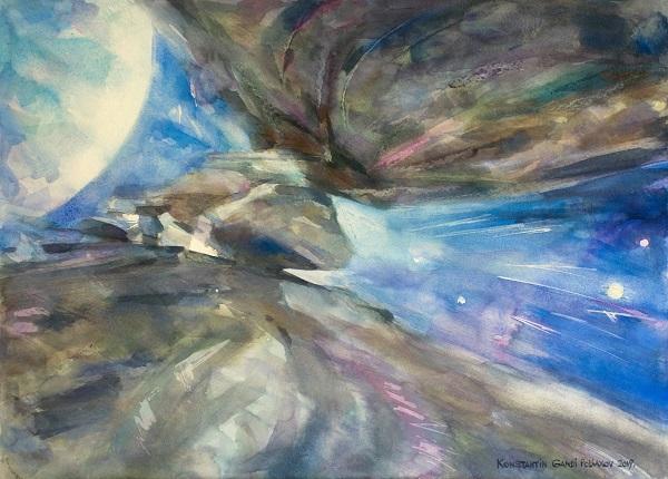 Первая Выставка на Луне, Константин Ганди Сны пещены Яна
