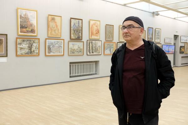 Константин (Gandi) Поляков на выставке  Виктора Орловского в ЦДА