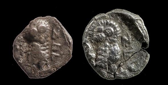 Серебряные монеты времен Первого храма фото: Заха Двира