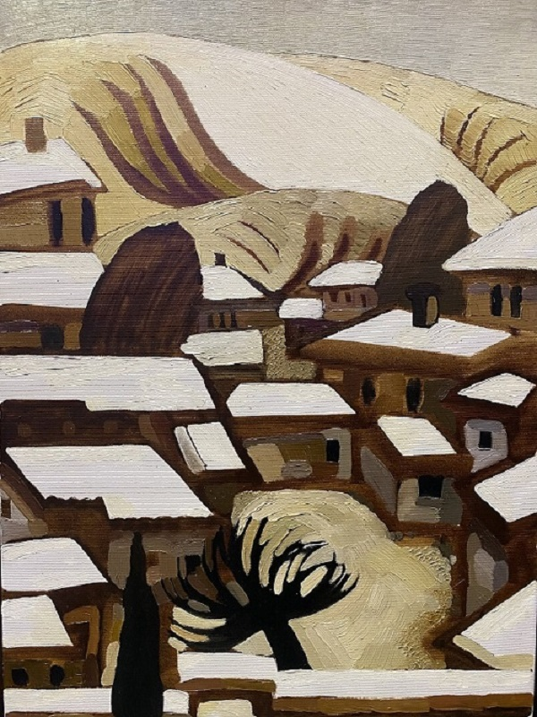 "Елена Фокина ""Снег в Коктебеле"" холст, масло   60х40   2010 г."