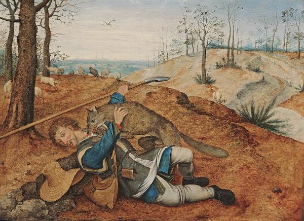 """Питер Брейгель Младший  1564/1637 -- 1638 гг.. """"Добрый пастырь"""""""