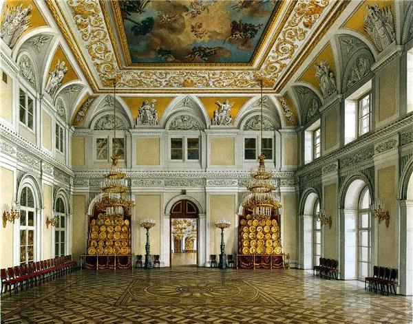 Константин Ухтомский Виды залов Зимнего дворца Аванзал