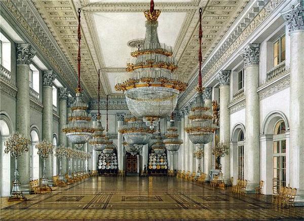 Константин Ухтомский Виды залов Зимнего дворца Николаевский зал