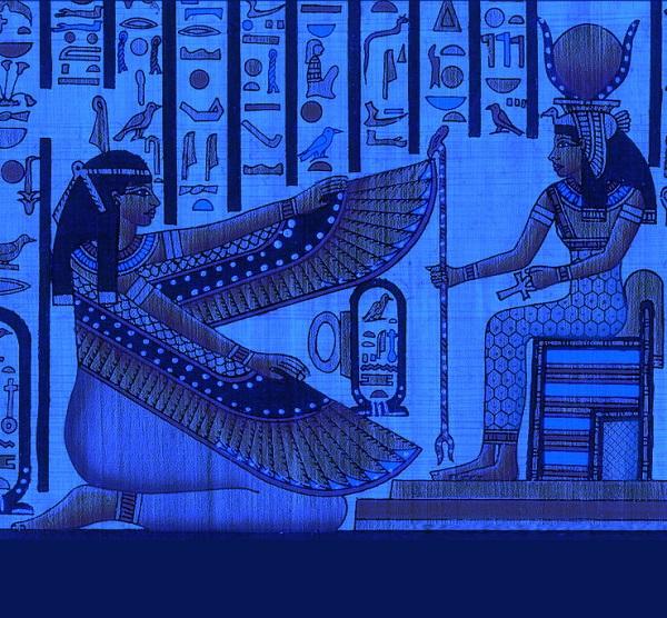 Судя по данным археологии, в самый древний период египетской истории еще не было космических богов, которым приписывали сотворение мира. Ученые полагают, что первая версия этого мифа возникла незадолго до объединения Египта. Согласно этой версии, солнце родилось от союза земли и неба. Это олицетворение, несомненно, древнее, чем космогонические идеи жрецов из крупных религиозных центров. Как обычно, от уже существующего мифа не отказывались, и образы Геба (бога земли) и Нут (богини неба) как родителей бога солнца Ра сохраняются в религии на протяжении всей древней истории.